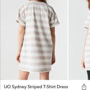 UO Sydney Striped T Shirt Dress
